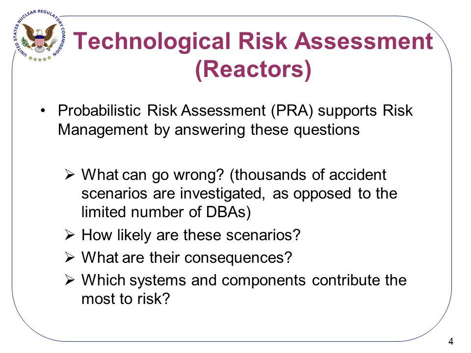 Technological Risk Assessment (Reactors)