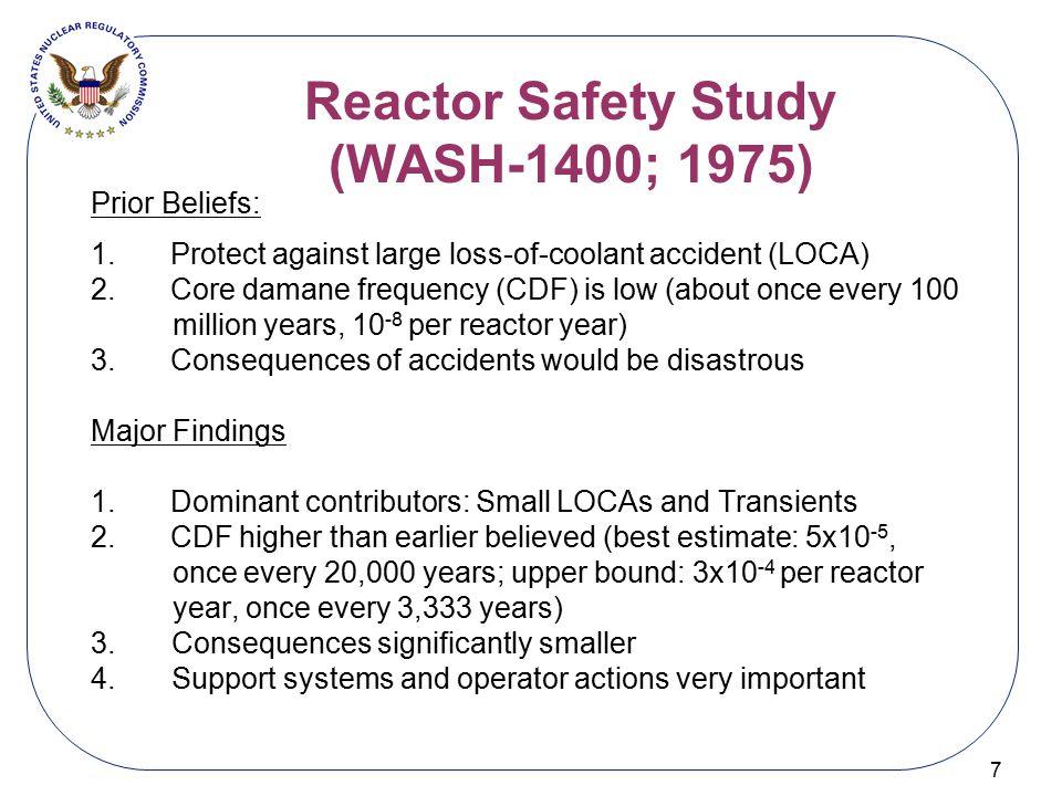 Reactor Safety Study (WASH-1400; 1975)