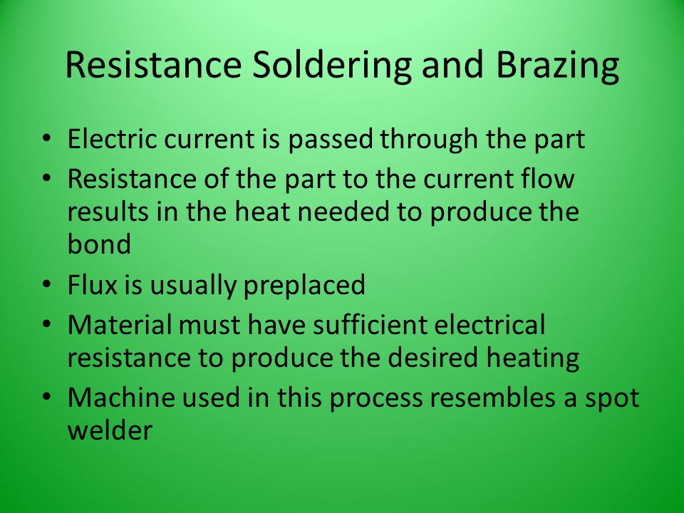Resistance Soldering and Brazing