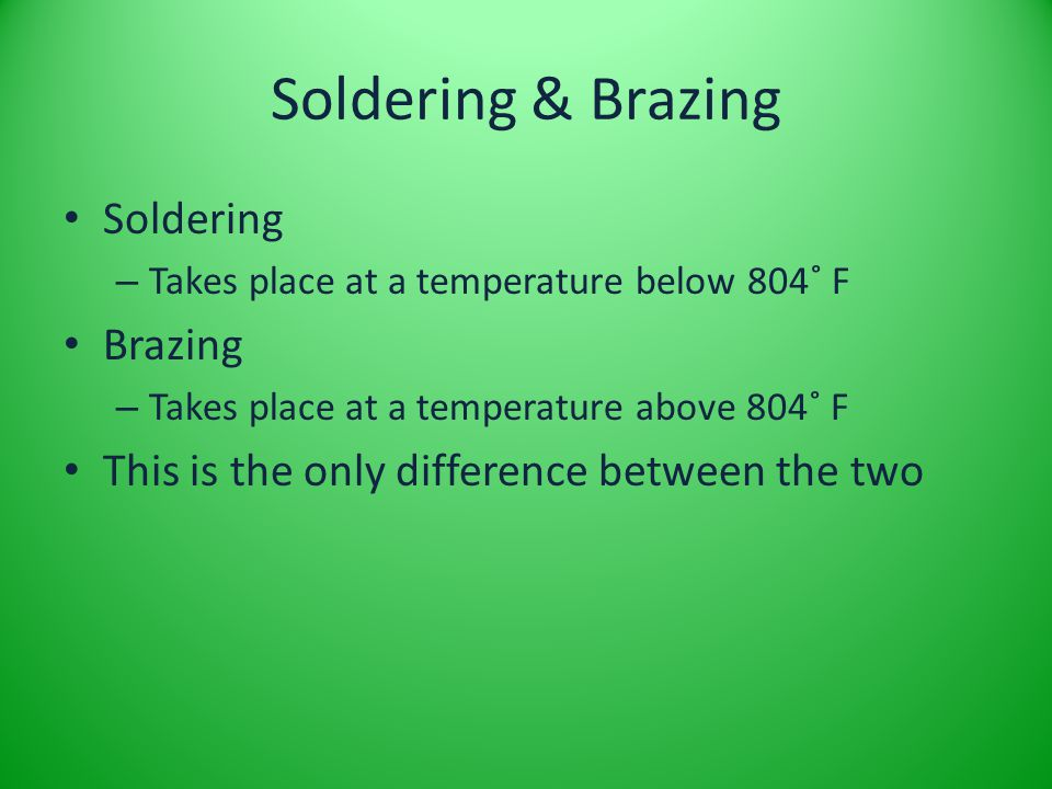 Soldering & Brazing Soldering Brazing