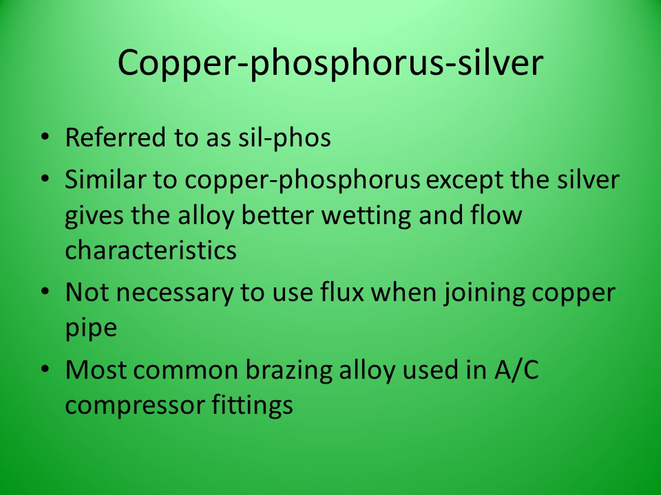 Copper-phosphorus-silver