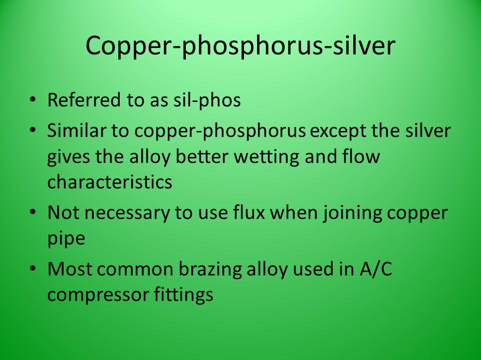 Copper-phosphorus-silver