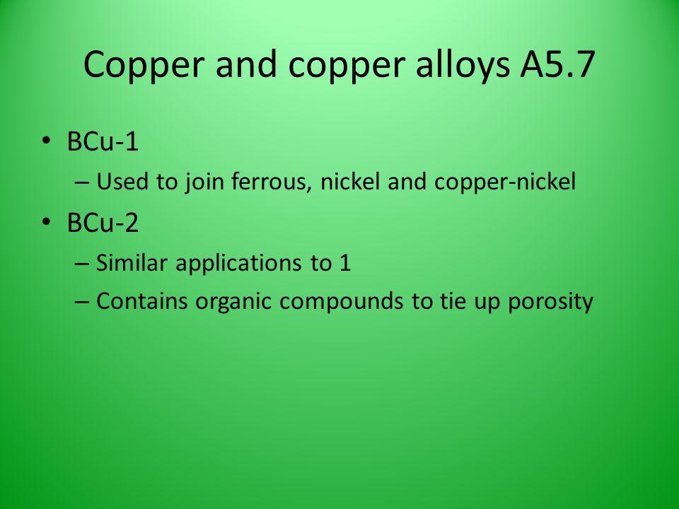 Copper and copper alloys A5.7