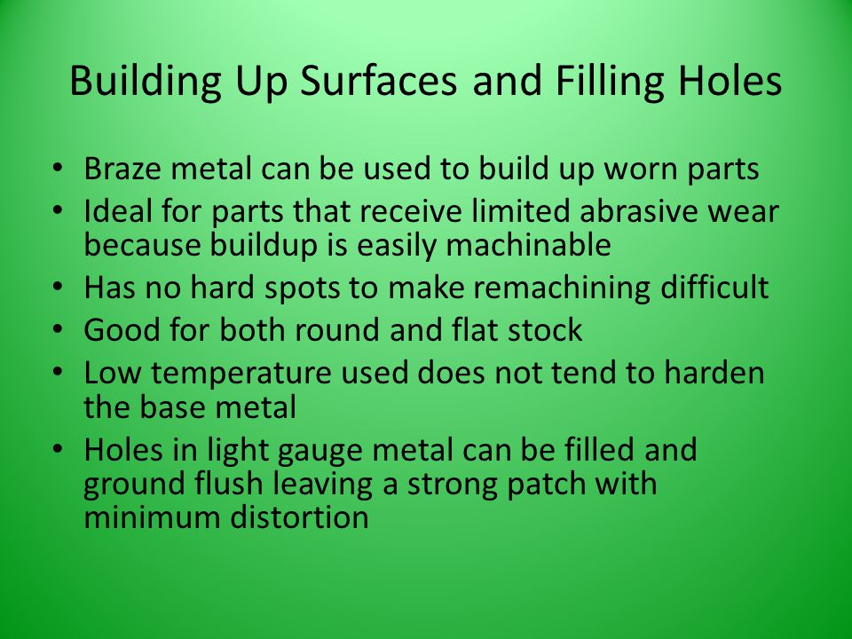 Building Up Surfaces and Filling Holes