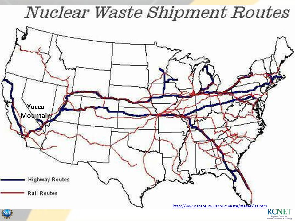 Yucca Mountain Proposed routes for Yucca Mtn.