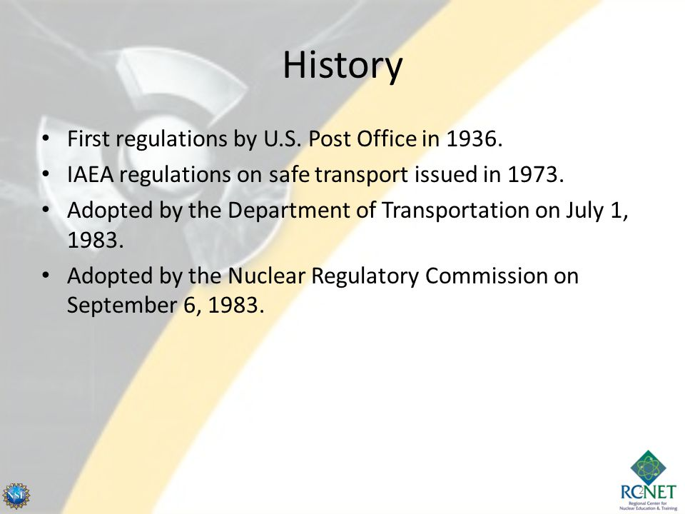 History First regulations by U.S. Post Office in 1936.