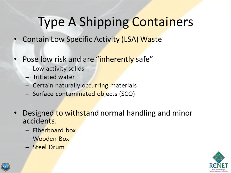 Type A Shipping Containers