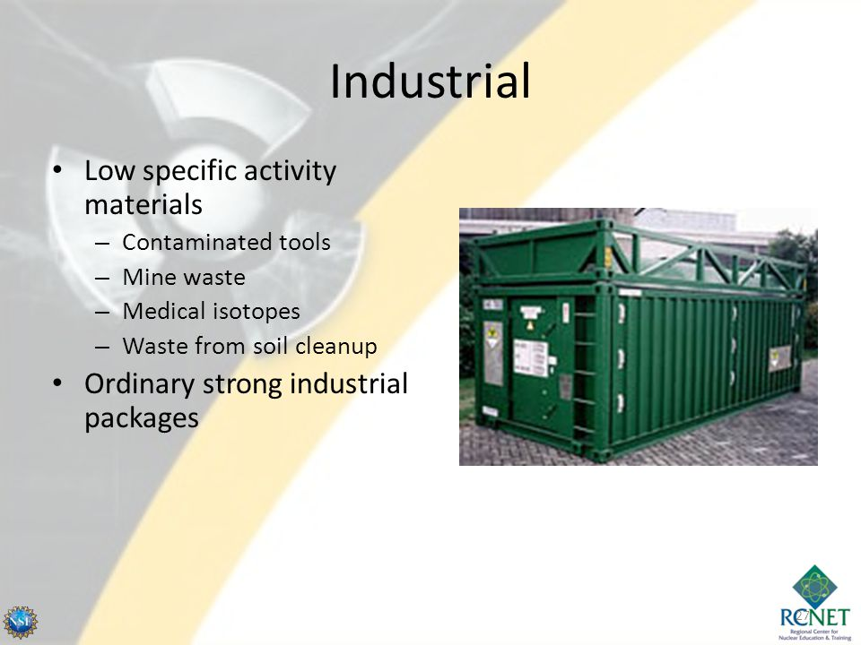 Industrial Low specific activity materials
