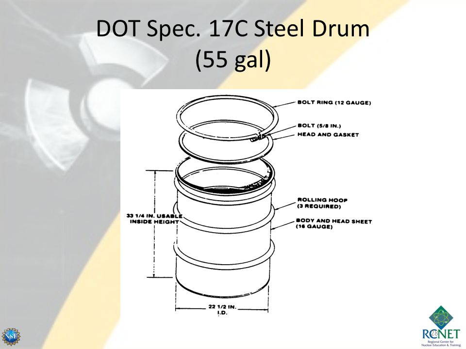 DOT Spec. 17C Steel Drum (55 gal)