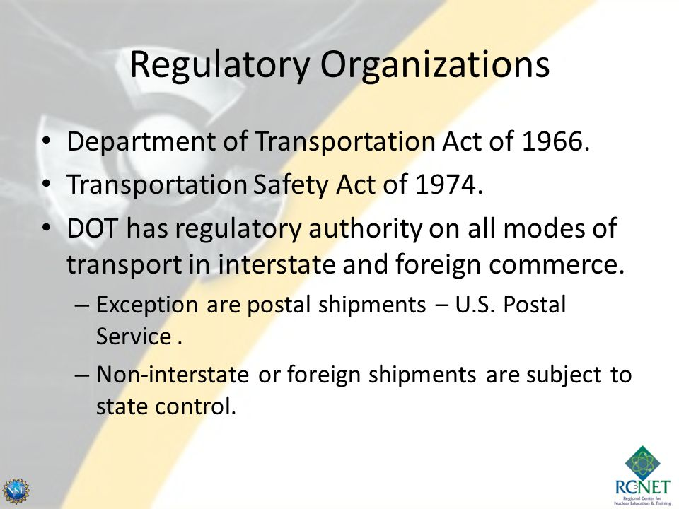 Regulatory Organizations
