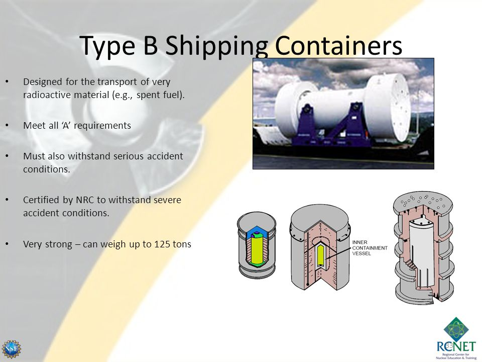 Type B Shipping Containers