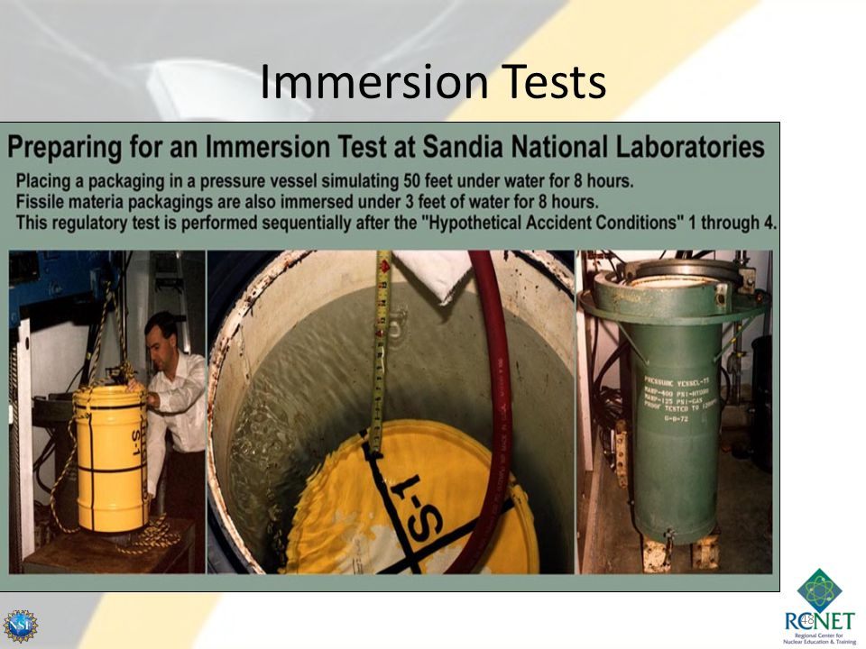 Immersion Tests