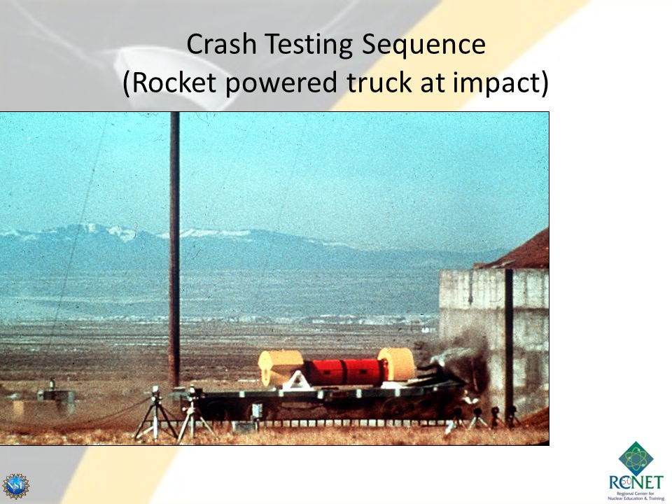 Crash Testing Sequence (Rocket powered truck at impact)