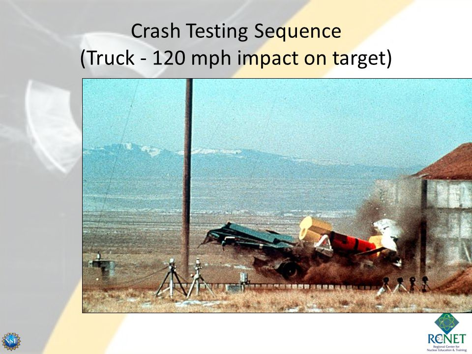 Crash Testing Sequence (Truck - 120 mph impact on target)