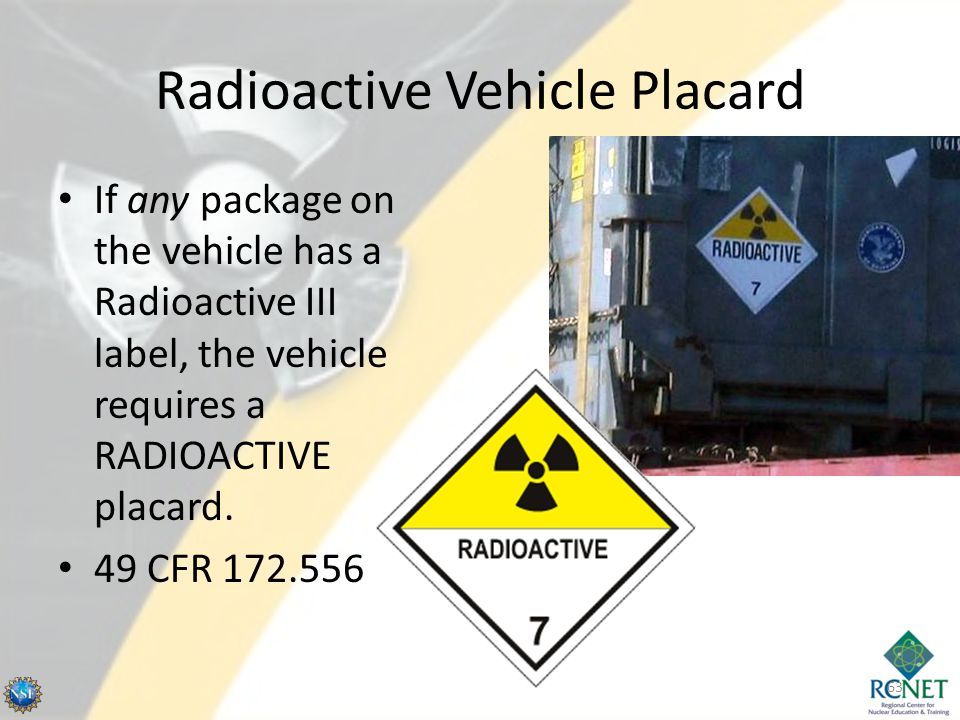Radioactive Vehicle Placard