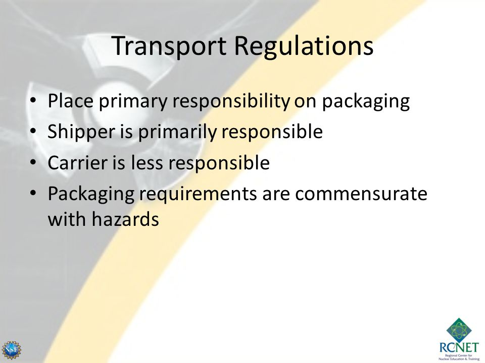 Transport Regulations