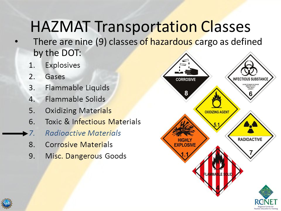 HAZMAT Transportation Classes