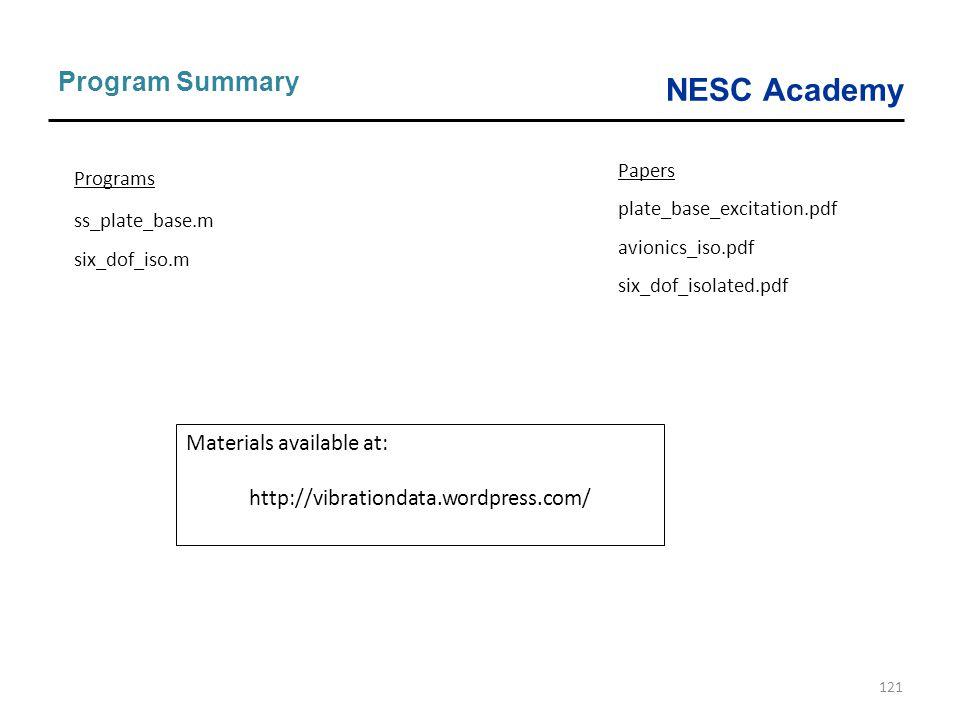 Program Summary Materials available at: