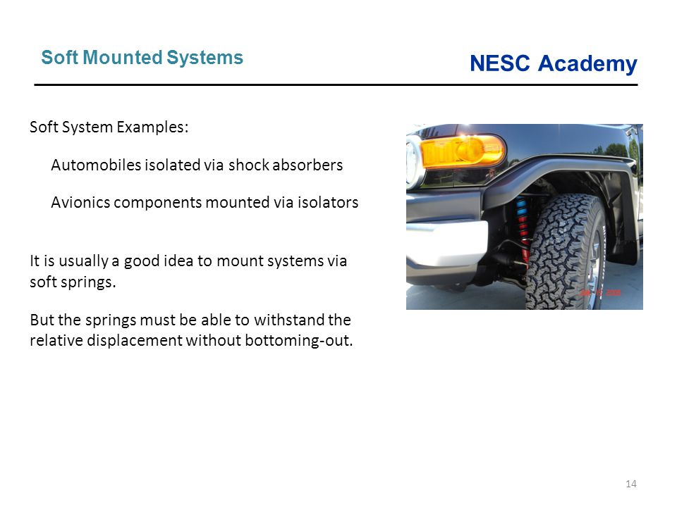 Soft Mounted Systems Soft System Examples: