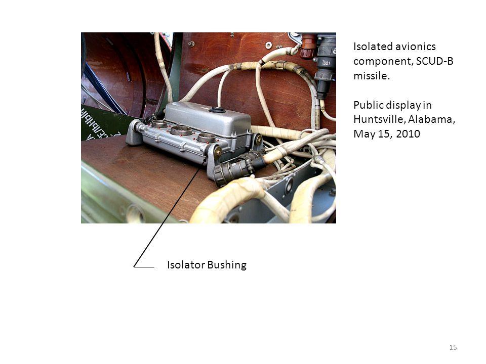 Isolated avionics component, SCUD-B missile.