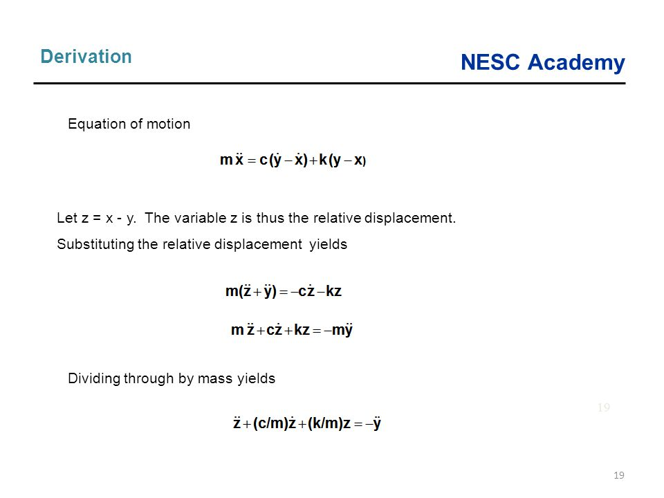 Derivation Equation of motion