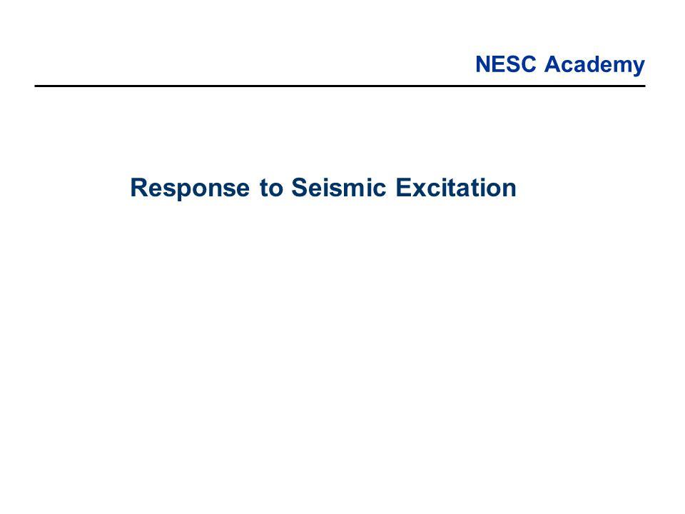Response to Seismic Excitation