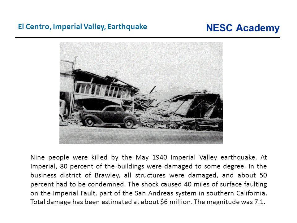 El Centro, Imperial Valley, Earthquake