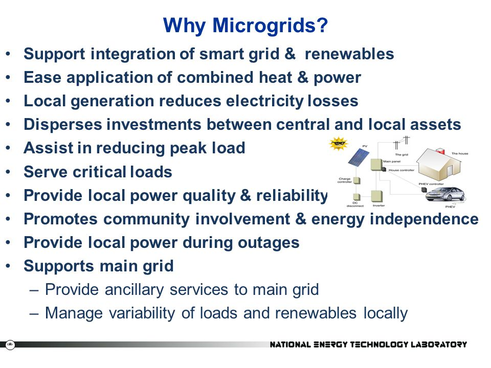 Why Microgrids Support integration of smart grid & renewables