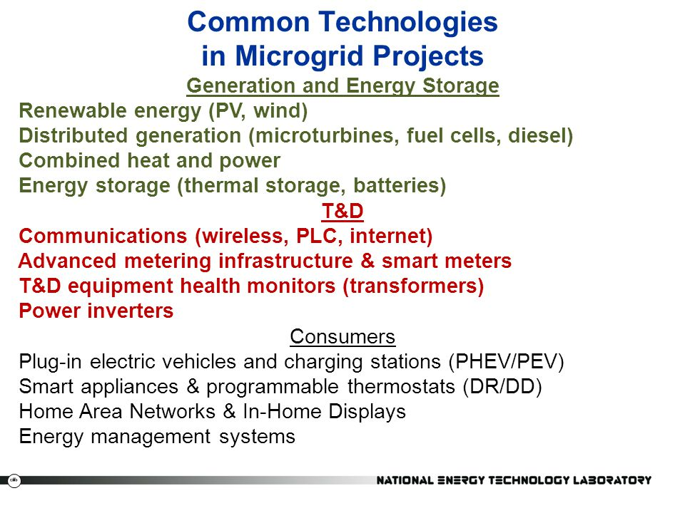 Common Technologies in Microgrid Projects