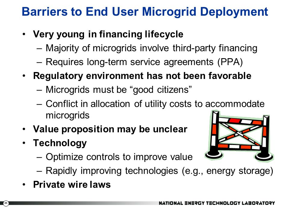 Barriers to End User Microgrid Deployment