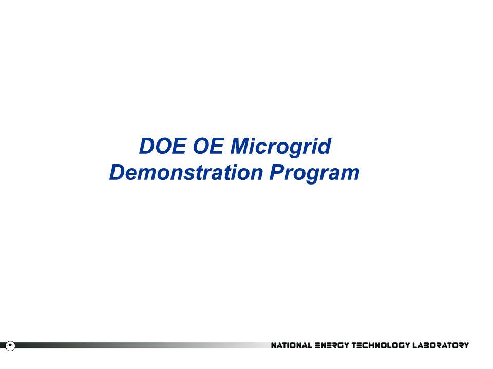 DOE OE Microgrid Demonstration Program
