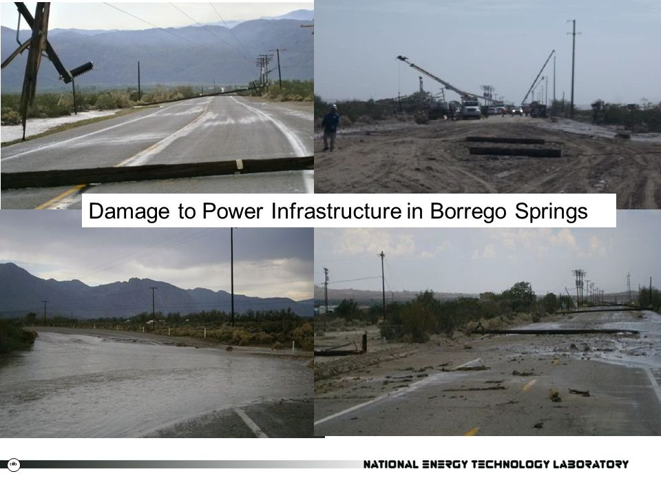 Damage to Power Infrastructure in Borrego Springs