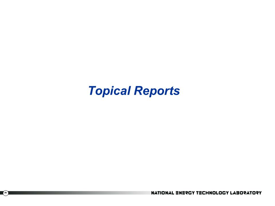 Topical Reports