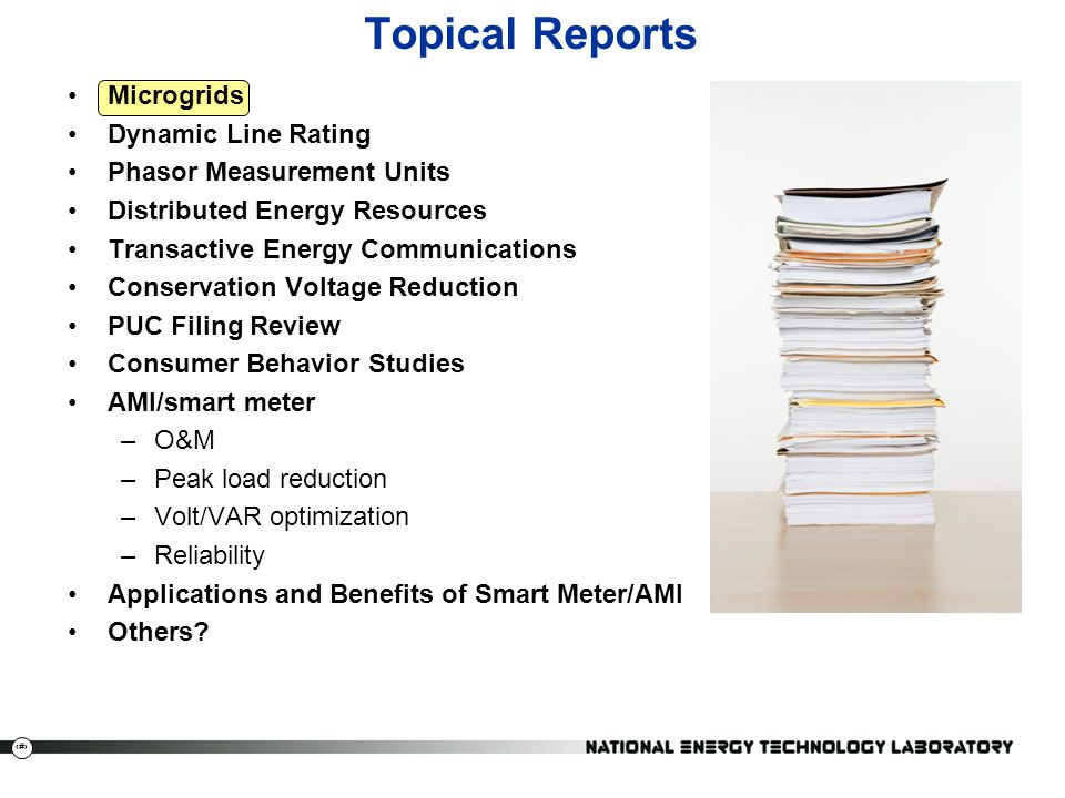 Topical Reports Microgrids Dynamic Line Rating