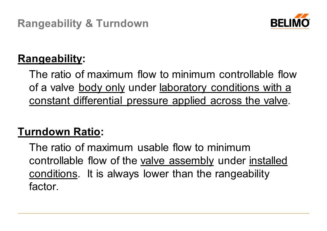 Rangeability & Turndown