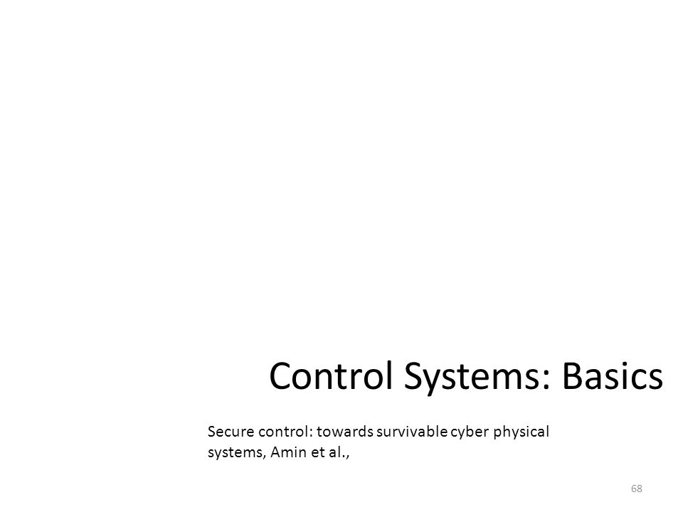 Control Systems: Basics