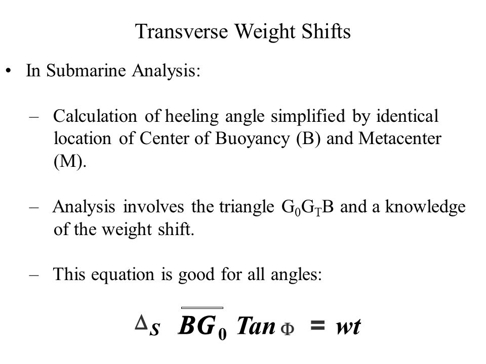 Transverse Weight Shifts