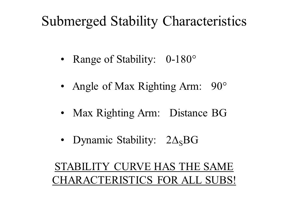 Submerged Stability Characteristics