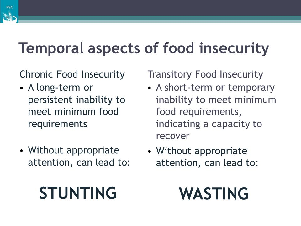 Temporal aspects of food insecurity