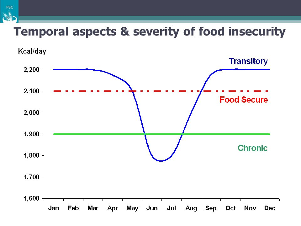 Temporal aspects & severity of food insecurity