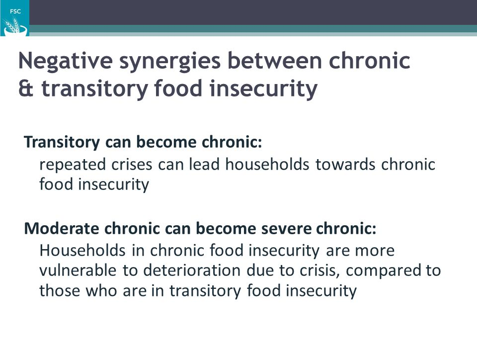 Negative synergies between chronic & transitory food insecurity