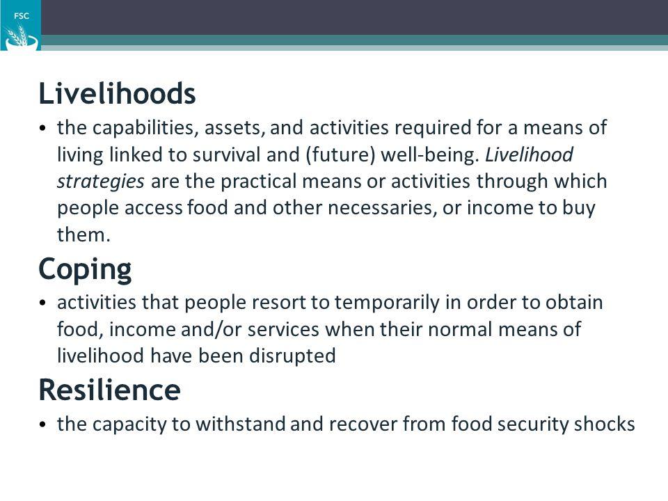 Livelihoods Coping Resilience