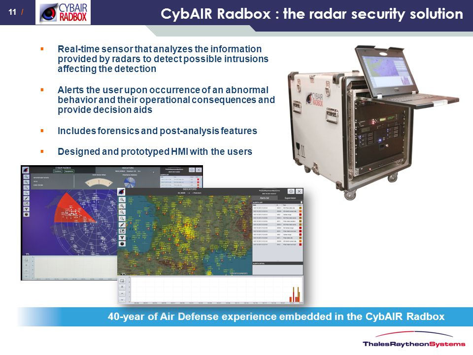 CybAIR Radbox : the radar security solution