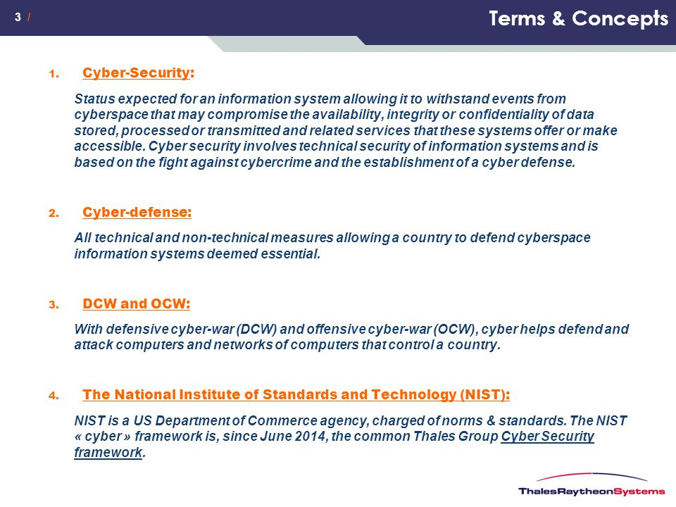 Terms & Concepts Cyber-Security: