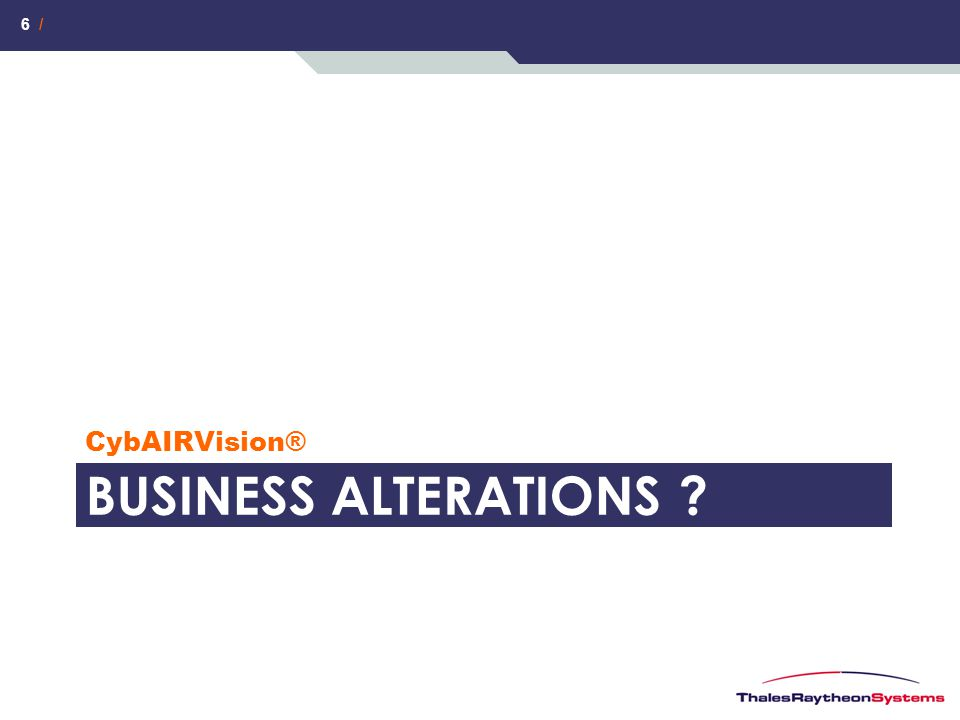 CybAIRVision® BUSINESS AltErations