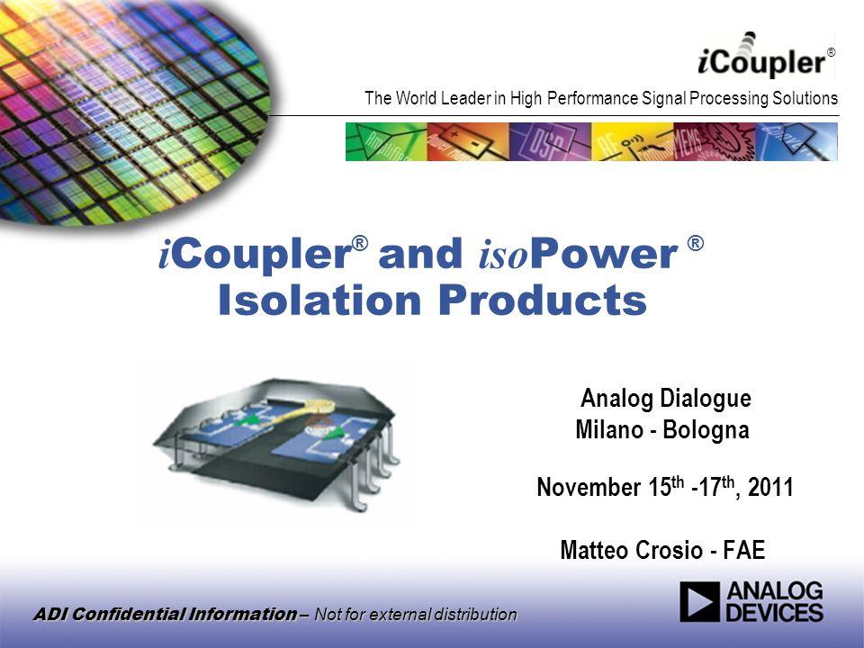 iCoupler® and isoPower ® Isolation Products