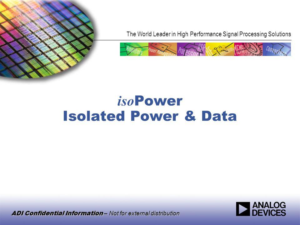 isoPower Isolated Power & Data