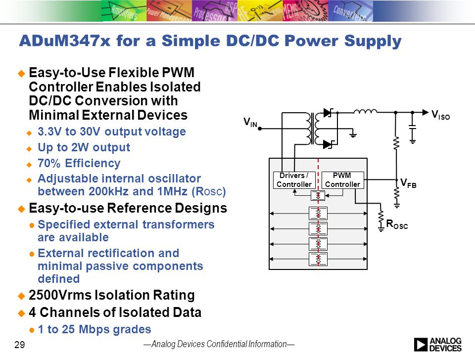 ADuM347x for a Simple DC/DC Power Supply