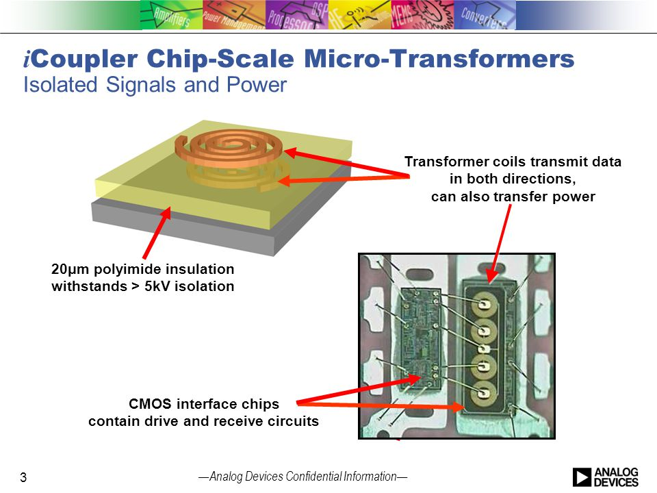 iCoupler Chip-Scale Micro-Transformers Isolated Signals and Power