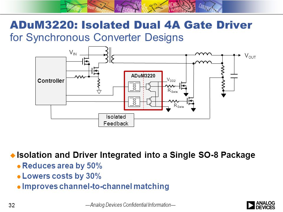 ADuM3220: Isolated Dual 4A Gate Driver for Synchronous Converter Designs